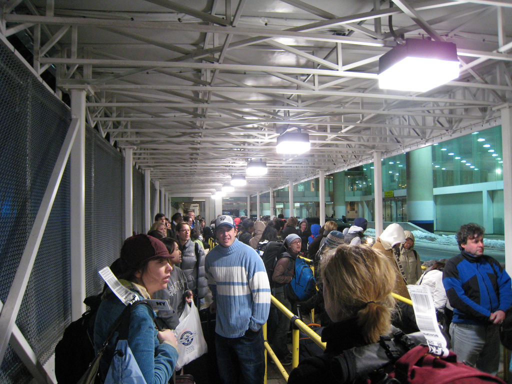 super bowl taxi queue