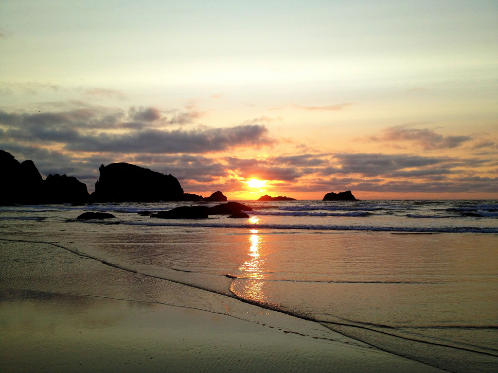 Forget your excess baggage when you watch the sunset in Bandon, Oregon.