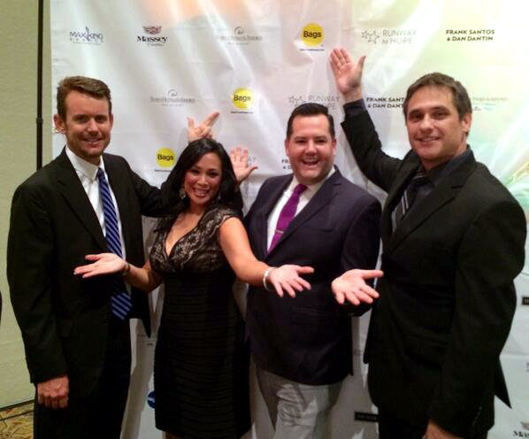 Ross Mathews and Bags Inc. Staff at the Runway to Hope Spring Fashion Soiree.