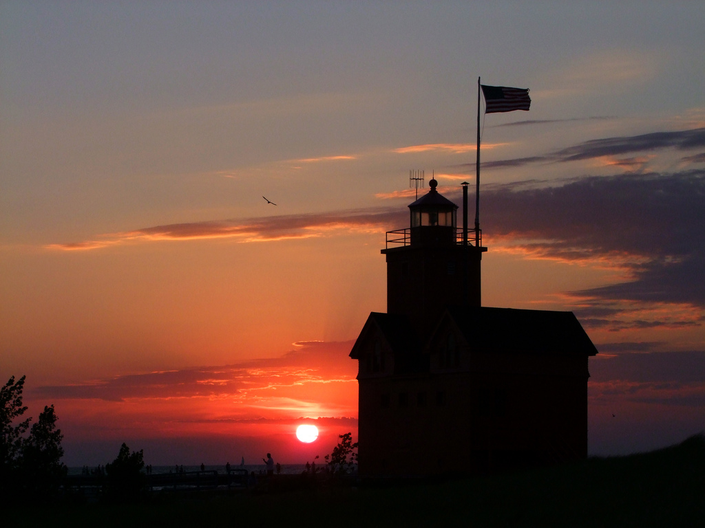 Forget your excess baggage when you watch the sunset on Michigan's Lake Michigan shoreline.