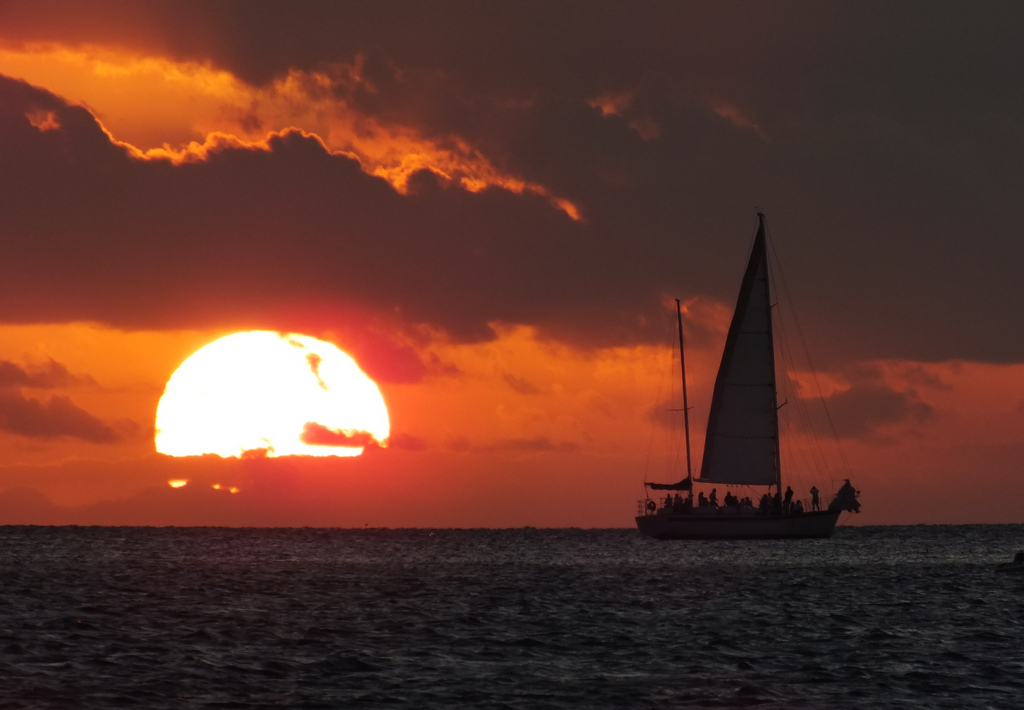 Forget your excess baggage when you watch the sunset in Key West, Florida.