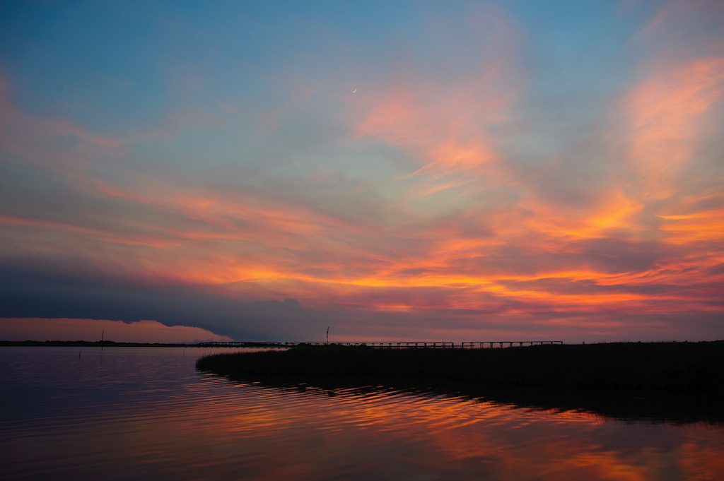 Forget your excess baggage when you watch the sunset over the Outer Banks in North Carolina.