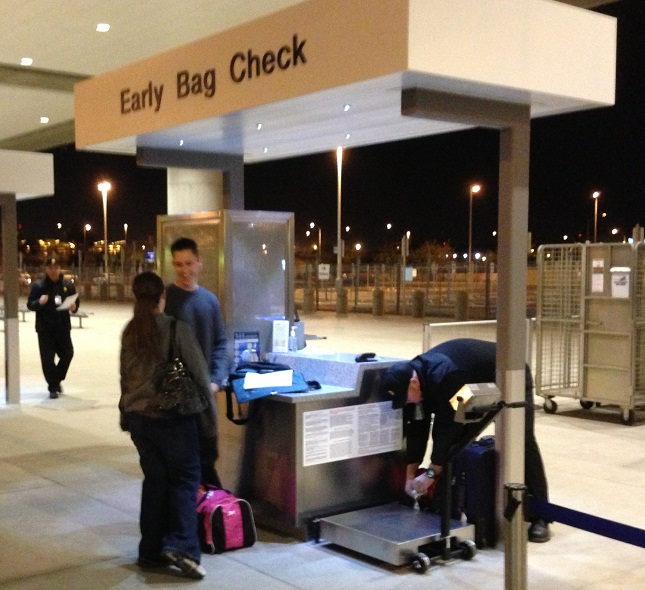 Early Bag Check at Phoenix Sky Harbor Airport, operated by Bags Inc.